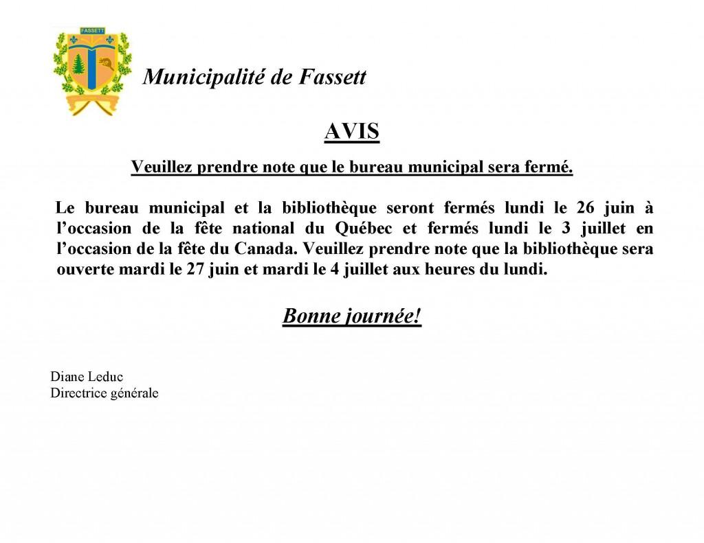 2017Bureau fermé St-Jean et confédération