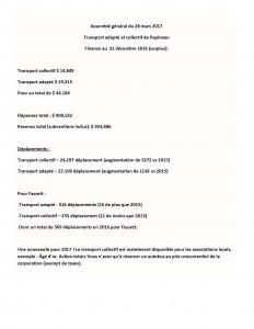 Assemblée générale transport adapté et collectif de Papineau