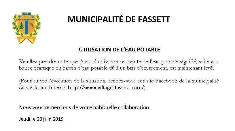 Levé - URGENT EAU POTABLE 20-06-2019V2